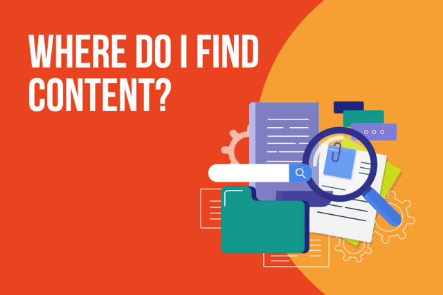 Where do I find content?